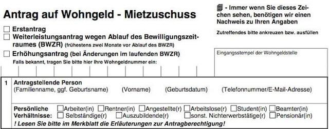 Wohngeldantrag ausfüllen + Anleitung   bis zu 190 Euro pro Person?! 1